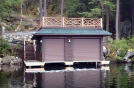 traditional boathouse